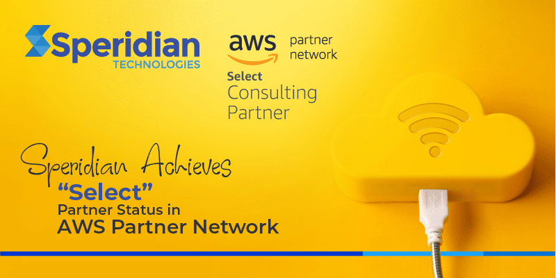 "Speridian Achieves ""Select"" Partner Status in AWS Partner Network"